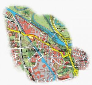 Limmer - Ausschnitt aus dem Stadtplan Hannover
